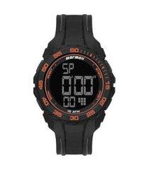 relógio digital mormaii masculino - mo18769ab8l preto