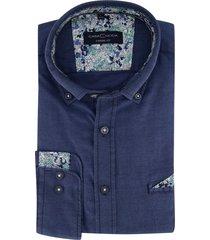 donkerblauw overhemd casa moda casual fit