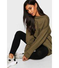 oversized lounge sweater, khaki