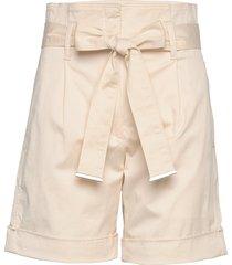 cotton paper bag wai shorts paper bag shorts beige calvin klein