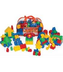 conjunto quebra-cuca com 120 em plástico peças na mochila - jottplay - kanui