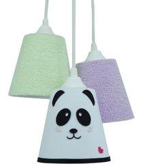 lustre crie casa pendente cacho quarto de bebê panda