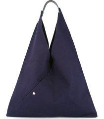 cabas triangle shaped tote - blue