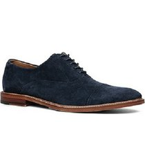 handmade mens oxford blue suede leather shoes, men dress suede leather shoes
