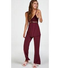 hunkemöller pyjamasset i spets vera röd
