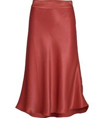 eddy mw midi skirt knälång kjol röd second female