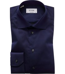 eton overhemd navy effen contemporary