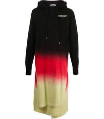 ambush gradient long hoodie - black
