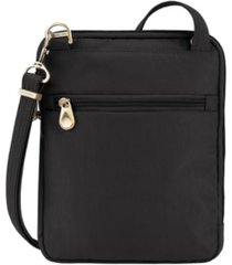 travelon signature quilted slim pouch