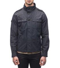 men's nobis admiral shirt jacket, size large - blue