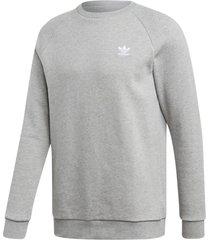 sweatshirt loungewear trefoil essentials crewneck