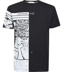 stone island printed logo t-shirt