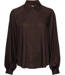 ay ss sleeve shirt blus långärmad brun designers, remix