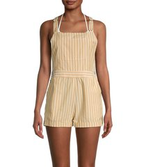 l*space by monica wise women's mahalo striped romper - harbor side - size xs