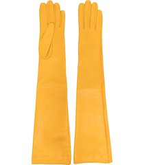manokhi long slip-on gloves - yellow
