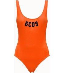 gcds costume con logo colore arancio fluo