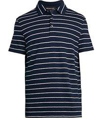 striped cozy polo t-shirt