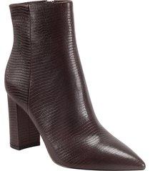 women's marc fisher ltd ulani pointy toe bootie, size 6.5 m - burgundy