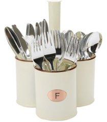 mind reader galvanized 3 section utensil caddy