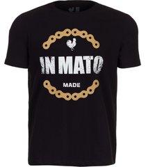 camiseta estampada made in mato corrente preto multicolorido - kanui