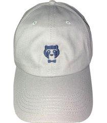 cachucha gris con logo azul prietto & co