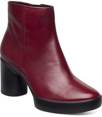 shape sculpted motion 55 shoes boots ankle boots ankle boot - heel röd ecco