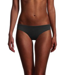 love moschino women's logo bikini bottom - nero - size 4 (xl)