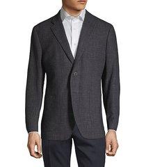 textured wool & linen blend blazer