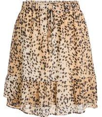 rok met dierenprint ayana  bruin