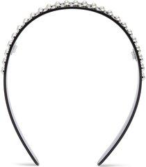 logo print pearl headband