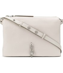 allsaints key chain shoulder bag - white