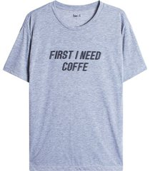 camiseta descanso coffe color gris, talla l