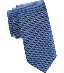 eton men's silk textured tie - blue
