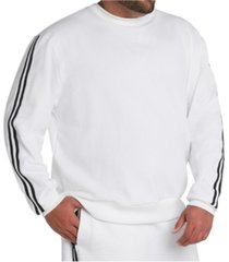 mvp collections men's big & tall striped sleeve sweatshirt