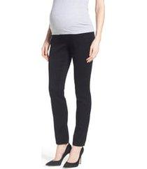 women's 1822 denim butter maternity skinny jeans, size small - black