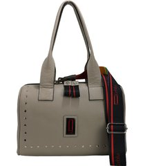 bolso gris  leblu baúl