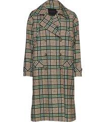 rene coat trenchcoat lange jas groen birgitte herskind