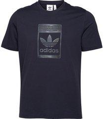 camo pack tee t-shirts short-sleeved blå adidas originals
