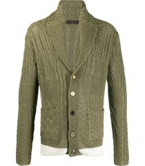 gabriele pasini slim knit cardigan - green