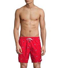 trunks surf + swim men's cuts premium american flag swim trunks - red - size xl
