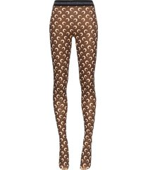 marine serre moon print tights - brown