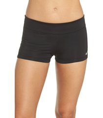 women's nike swim kick shorts, size medium - black