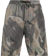 department 5 camouflage swim shorts - green