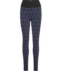 aurora monogram leggings lingerie socks blå wolford