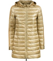classic hooded padded jacket herno