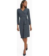 tommy hilfiger women's essential stripe wrap dress sky captain/cream - 4