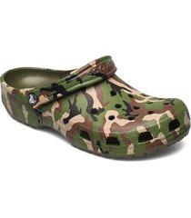 classic printed camo clog shoes summer shoes sandals grön crocs