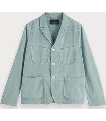 scotch & soda unstructured cotton-linen blazer
