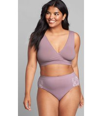 lane bryant women's level 1 smoother hipster panty 26/28 elderberry lace