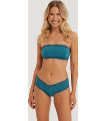 na-kd lingerie basic brazilian micro panty - turquoise